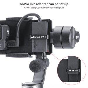 Image 2 - Ulanzi PT 6 Gopro Vlog plaque avec adaptateur micro pour 3 axes cardan Moza Mini S lisse 4 Vimble 2 Vlog boîtier métallique pour Gopro 7 6