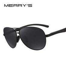 MERRY'S Men Pilot Sunglasses HD Polarized Glasses Brand Polarized Sunglasses S'8228