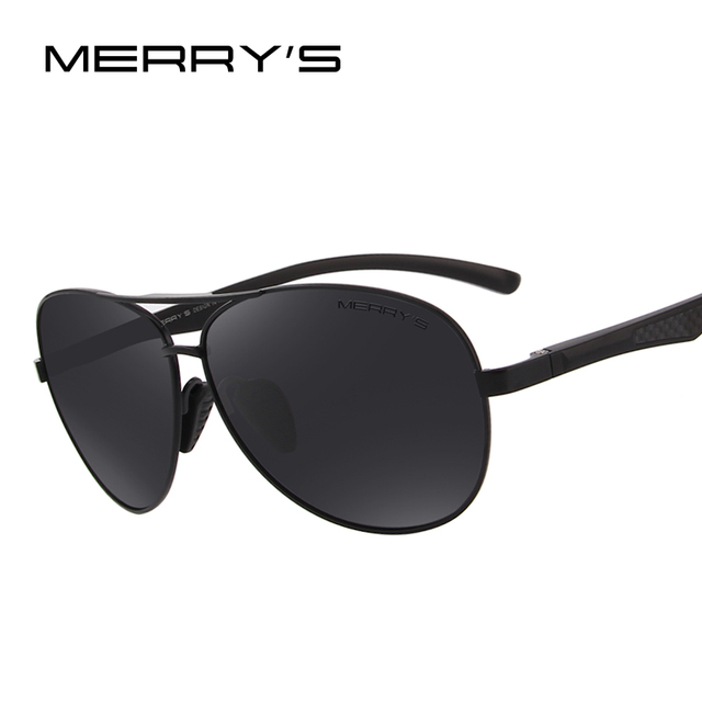 5fbc7ff33b05 MERRY S Men Pilot Sunglasses HD Polarized Glasses Brand Polarized Sunglasses  S 8228