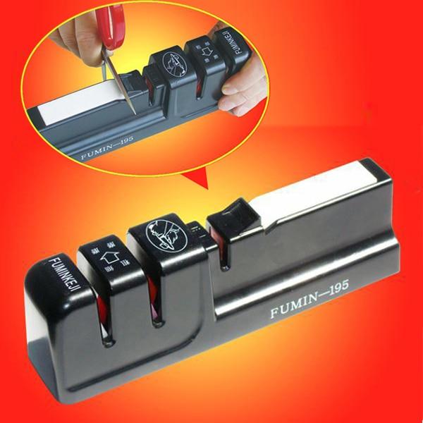 Professional Stainless Steel Knife Sharpener Home Kitchen Knives Accessories Whetstones Scissor Sharpener
