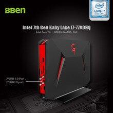 Bben Мини-ПК игр коробки Окна 10 Intel I7 7700HQ Nvidia GTX 1060 8 ГБ Оперативная память 128 ГБ SSD HDD дополнительно USB3.0 USB2.0 игровой компьютер