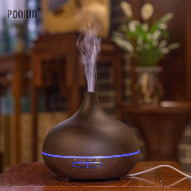 300ml Cool Mist Humidifier Colorful LED Night Light Home Air Purifier Mini Humidifier for Home Office Baby 1
