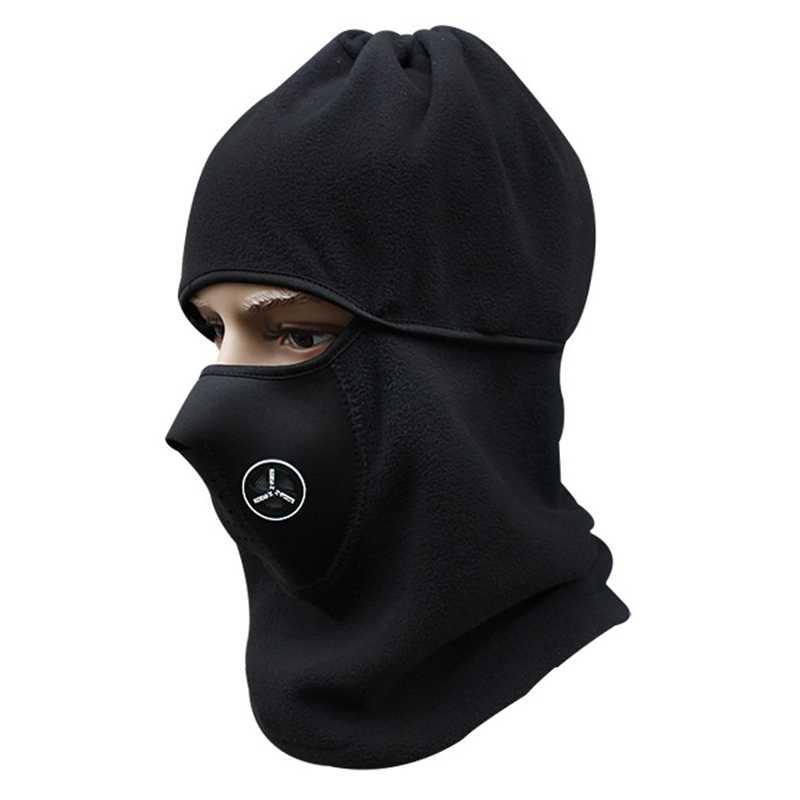 f8bb0804975 ... Thermal Fleece Balaclava Ski Full Face Mask Cover Hat Cap Winter Wind  Stopper Face Mask Neck ...