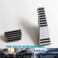 Car Accessories Aluminium Alloy Accelerator Fuel Pedal Brake Pedal AT for Volvo XC90 V90 S90 2015 2016 2017 AT No Drill