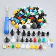 200Pcs 30kinds Mixed Door Bumper Panel Fender Retainer Fastener Rivet Plastic Clip+Car Auto Pliers Tool