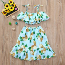 Summer Toddler Girl Pineapple Printed Dress