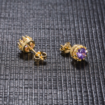 Carat Cubic Zirconia Silver-Color Stud Earrings