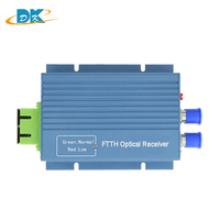 output 2 port and input 2 port CATV Mini Optical Receiver Aluminum Shell SC/APC 45 ~ 862Mhz with AGC and WDM,1310/1490/1550nm