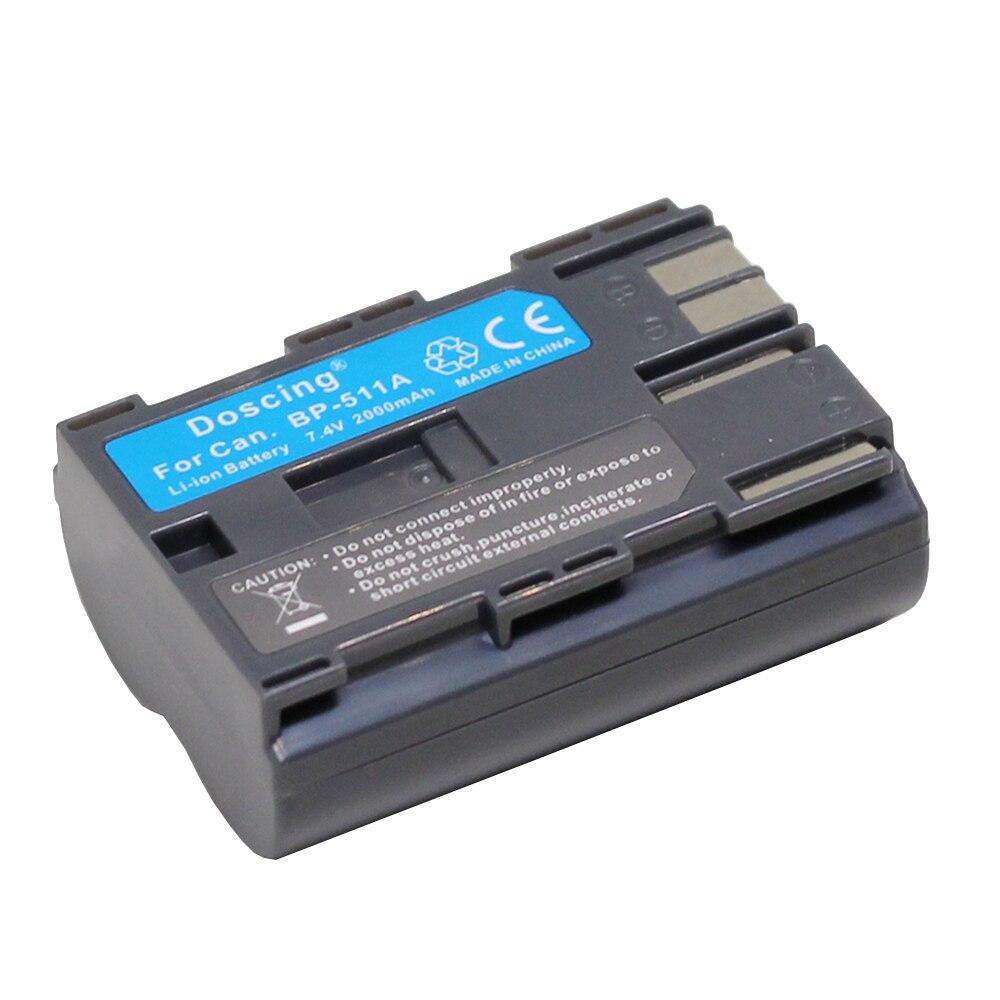 Eos 20da 7.4 v Batería para Canon Powershot G3 Bp-511 Bp-512 Bp-511a Eos 5d