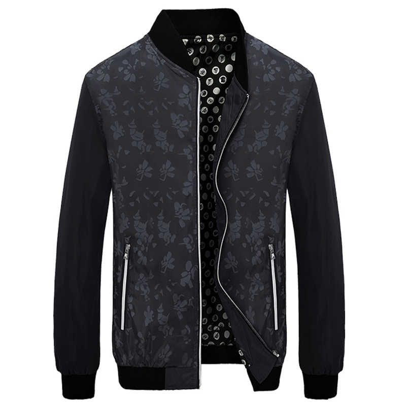 HCXY, брендовый куртка и пальто для мужчин Лидер продаж цветочный бомбер s куртки Slim Fit цветы плюс размеры Модная