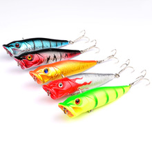 1Pcs/lot 9cm 13g High Quality Topwater Popper fishing Lure hard bait Plastic Fishing Tackle Crankbait everything for fishing