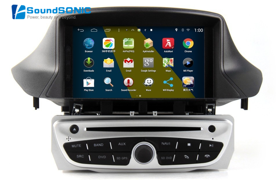 android 4 4 4 for renault megane iii 3 fluence touch screen car radio stereo dvd gps navigation. Black Bedroom Furniture Sets. Home Design Ideas