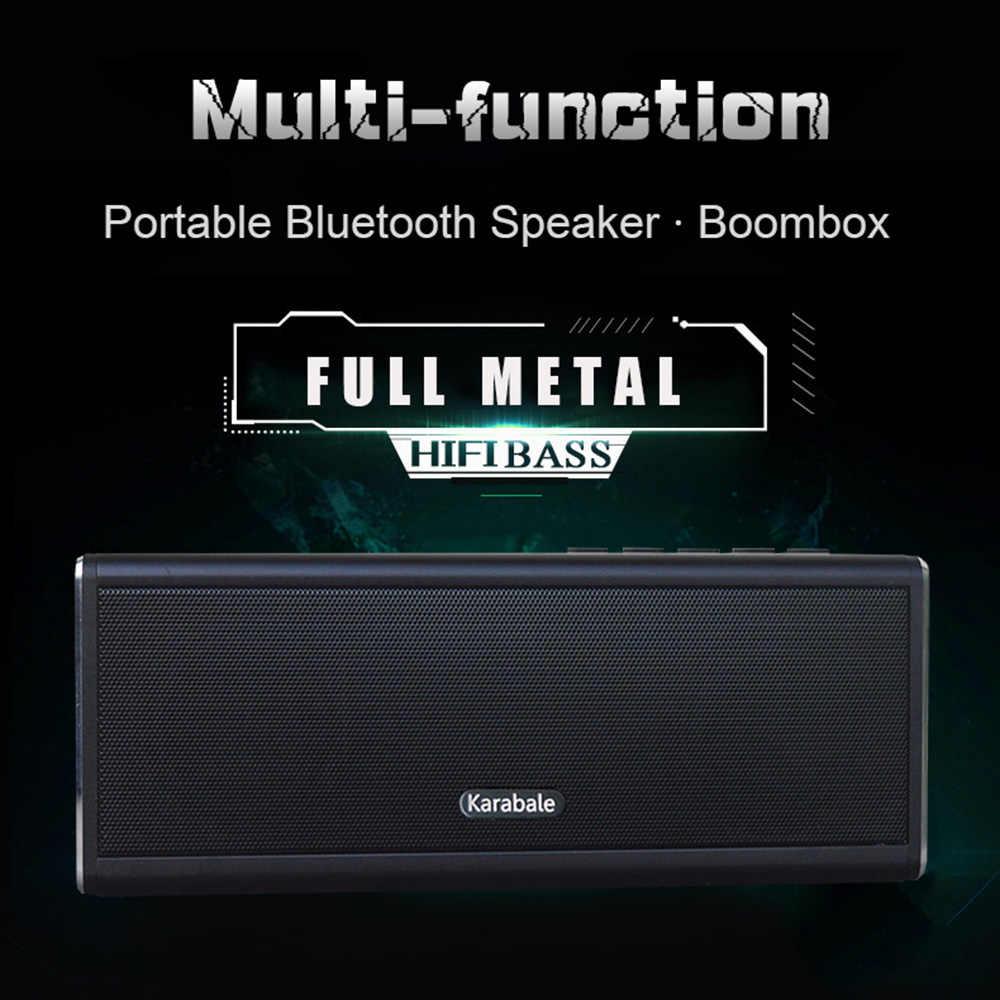 20 Вт металлический Bluetooth динамик 4400 мАч Внешний аккумулятор портативный супер бас беспроводной настольный автомобильный HIFI динамик Громкоговоритель Handfree MIC FM