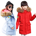 2016 Special Offer Real Long 100% 3-12y Baby Girls Winter Coat Korean Padded Zipper Kids Jacket And Coats Outwear For Children