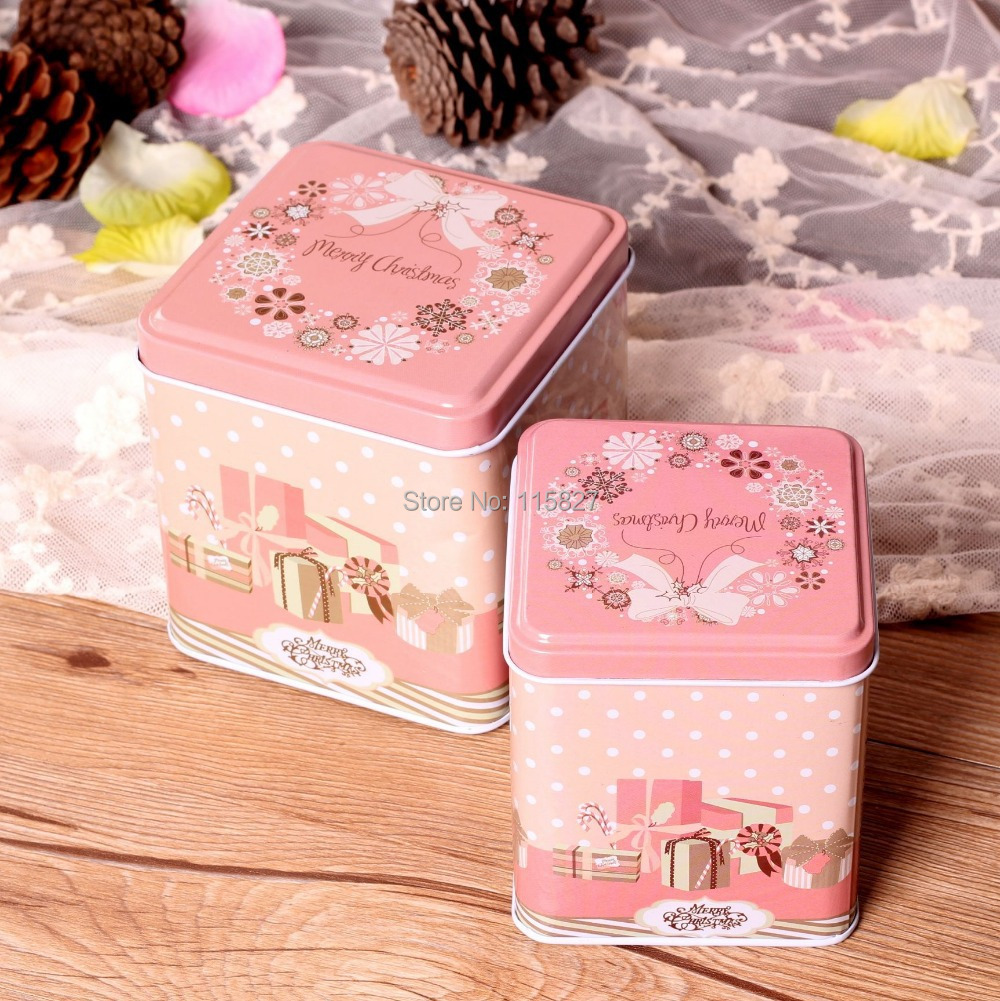 Free Shipping!Pink color Christmas Gift Box 2014 New Design Metal ...