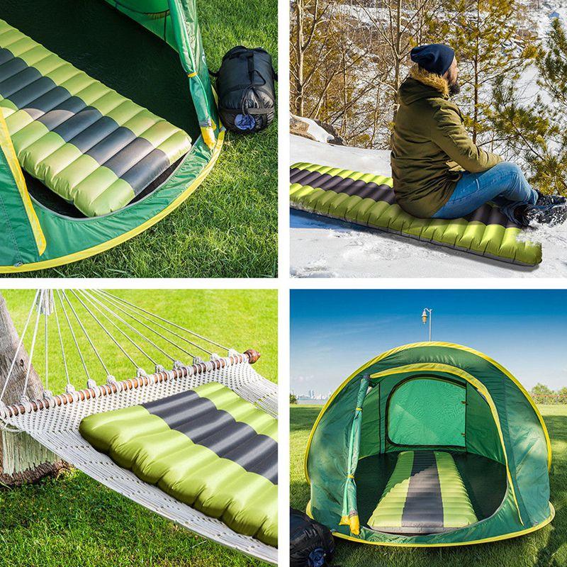 Nuevo inflar el colchón inflable para acampada almohadilla para dormir al aire libre de humedad de aire inflable colchón de natación piscina flotante Pad - 6