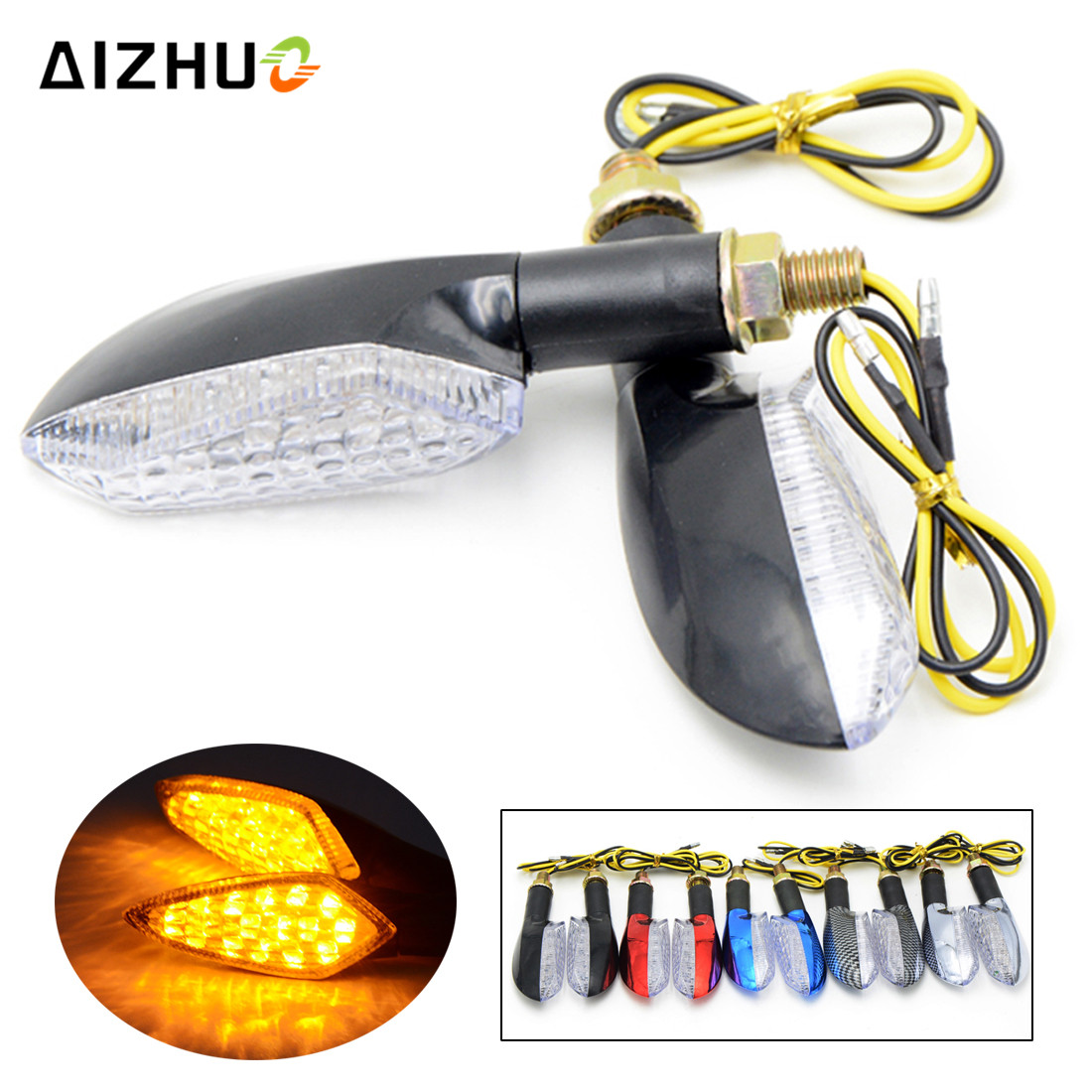 Motorcycle LED Turn Signal Lights Scooter Flasher Arrow Indicators Flasher Lights For Honda Kawasaki Suzuki KTM BMW