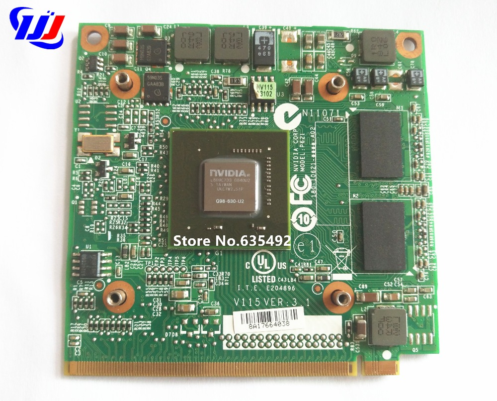 5520G 6930G 7720G 4630G 7730G Laptop nVidia GeForce 9300 M GS G98-630-U2 DDR2 256 MB MXM II Scheda Video Grafica per Acer Aspire