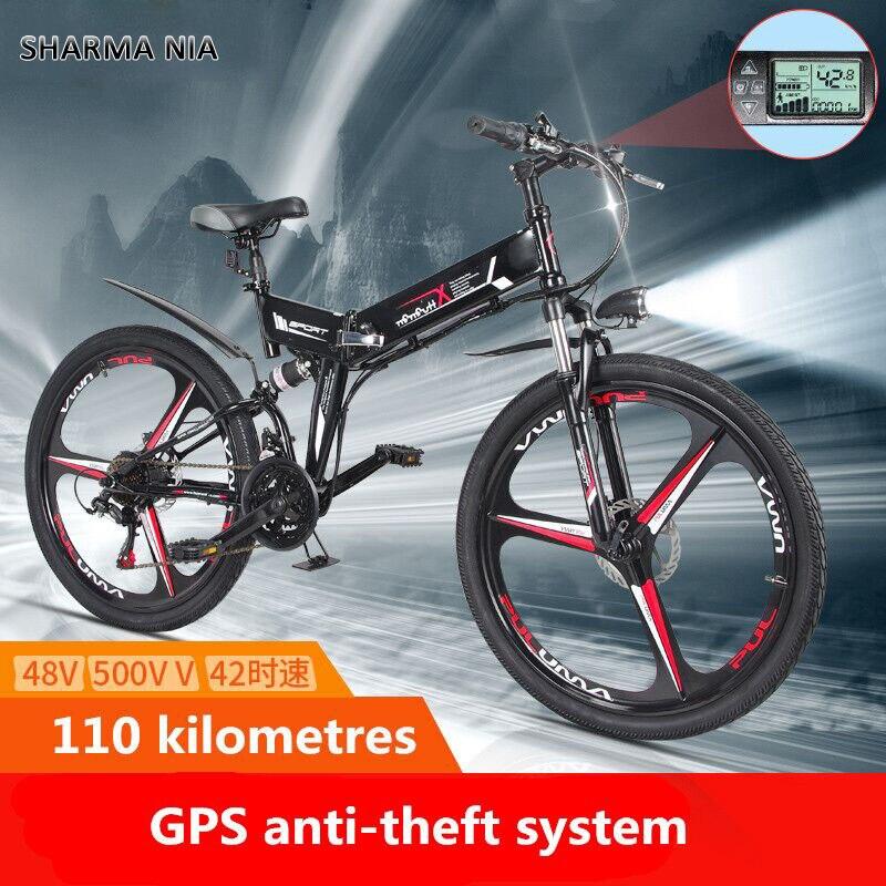 Nuova Bici Elettrica 21 Velocità 10AH 48 V 350 W 40 KM Built-In batteria Al Litio E bici elettrica 26