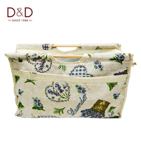 D&D Exquisite Practical Wood Handle Woven Bag Knitting Needles Bag Sewing Tools Fabric Crafts
