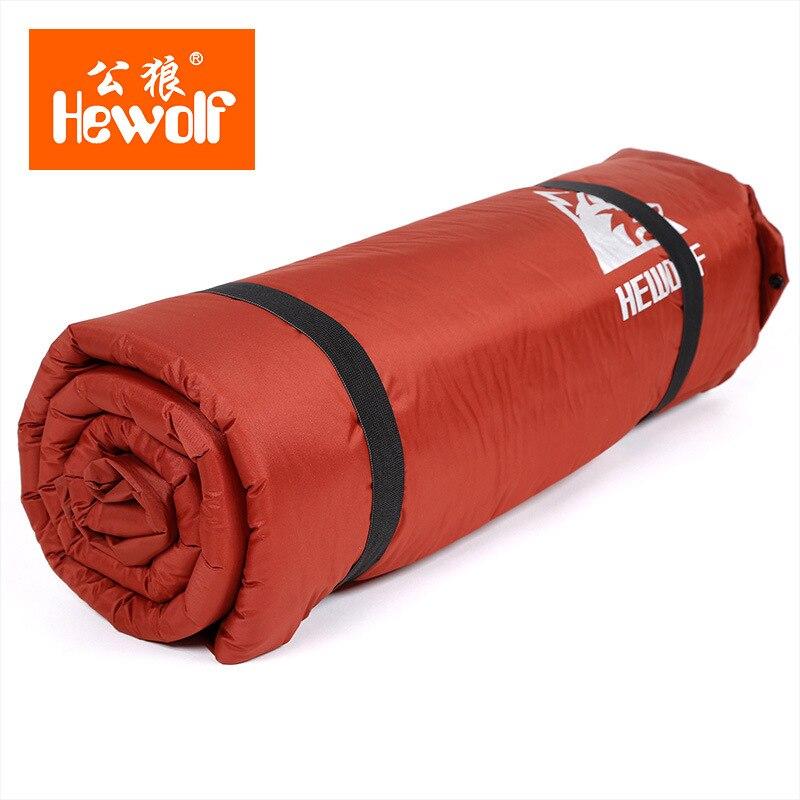 HEWOLF al aire libre 5 cm de espesor inflable automático cojín al aire libre tienda de campaña de doble inflable colchón de la cama 2 colores - 4