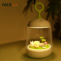 USB 3D Plant DIY LED RGB Colorful Birdcage Nightlight Table Lamp Luminaria Rechargeable Touch Control Baby