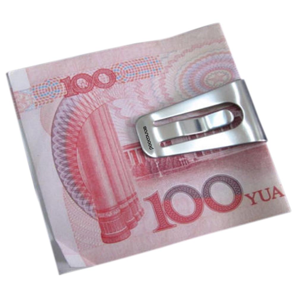 Stainless Steel Slim Pocket Cash Purse Money Clip Wallet ID Credit Wallet Magnetic Card Money Clip Billetera Money Clip Carbon
