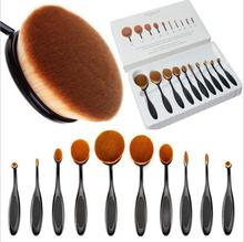 10pcs/set Makeup Brushes Professional Oval Brush Set New Toothbrush Makeup Brush Beauty Essential Make Up