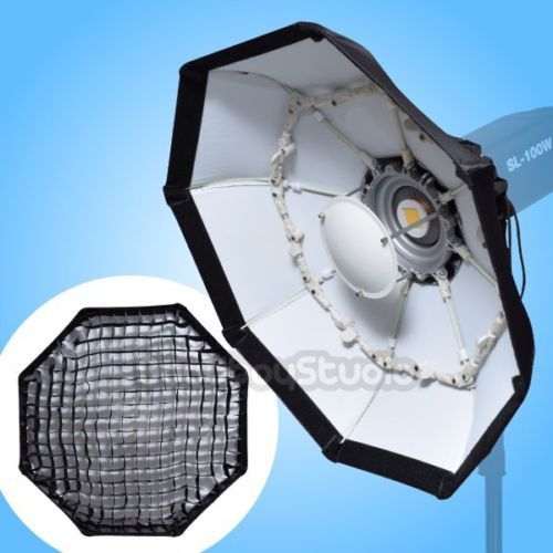Elinchrom Rotalux Alien Bees Balcar Adapter: 70cm WHITE Portable Honeycomb Grid Beauty Dish Softbox For