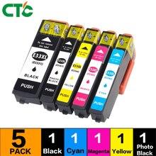 5PK 33XL совместимый чернильный картридж для XP-530 XP-630 XP-830 XP-635 XP-540 XP-640 XP-645 T3351 T3361 для принтера в Европе