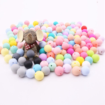 Bite Bites 100pcs 12-20mm Baby Silicone Beads Teether Round Teething Jewelry Food Grade Infant For DIY Chewable Children Goods