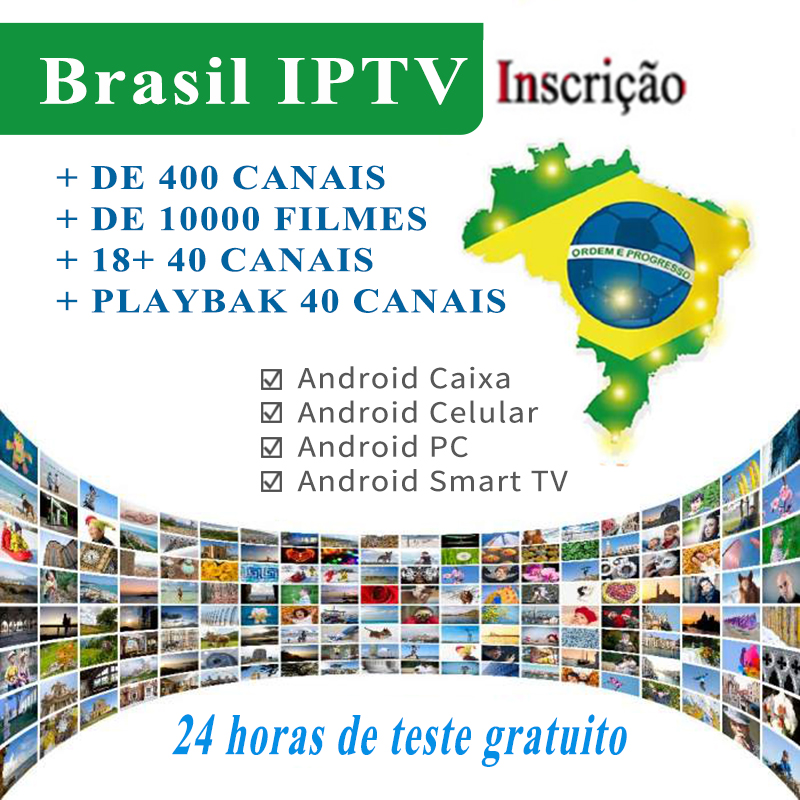 Iplay Plus APK For All Android Devices With Brazilian Portuguese TV Internet Streaming Box Live HD Filmes On 24 Hours Free Test