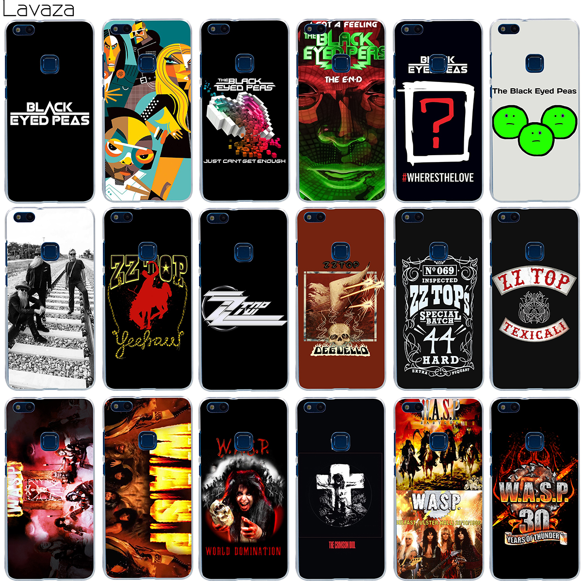 Lavaza The Black Eyed Peas ZZ Top W.A.S.P Band Case for Huawei Honor Y3 Y5 ii Y6 Y7 6 6A 7X 8 9 Lite 2017