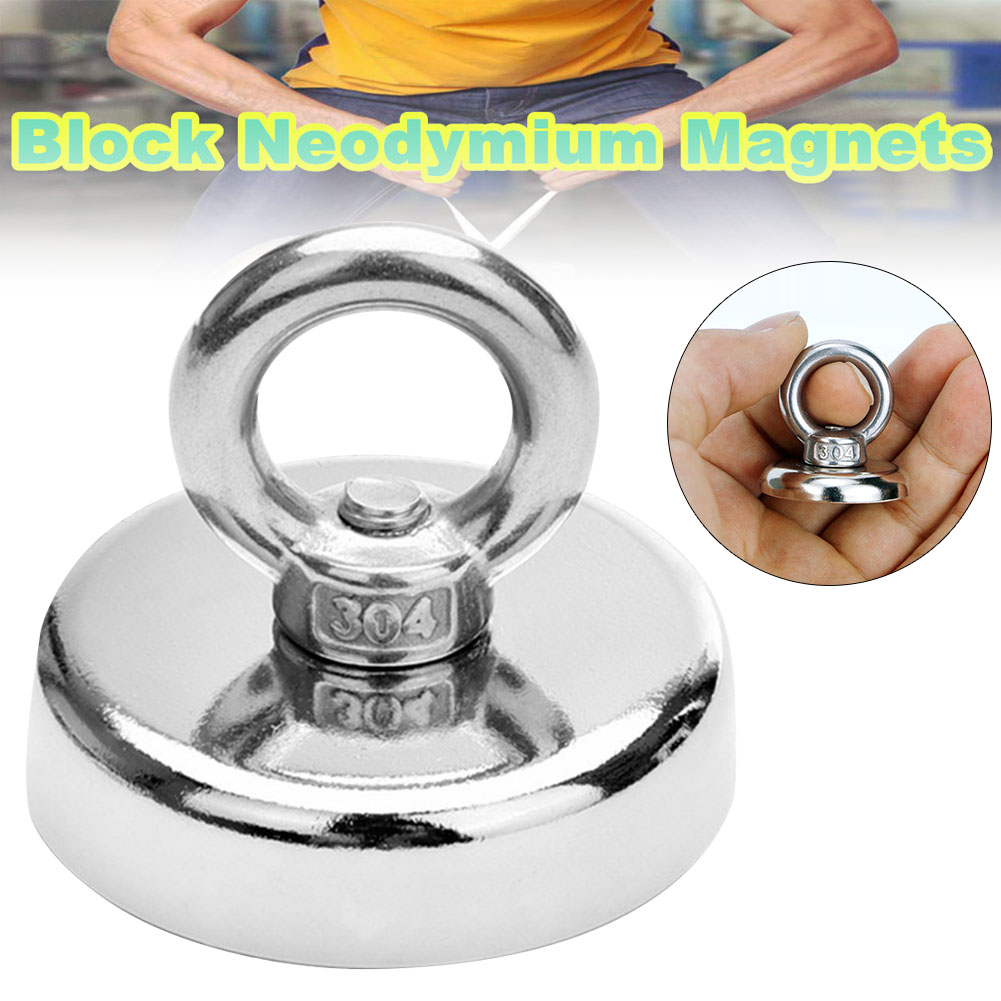 Newly Neodymium Magnet Super Strong Powerful Salvage Hook Fishing Magnetic Circular XSD88