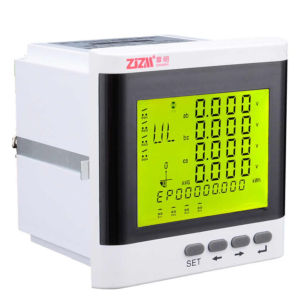 3-Phase Multi-function Power Meter Digital LCD Display Energy Voltage Current Meter with RS485 Communication Function 12006053 цены