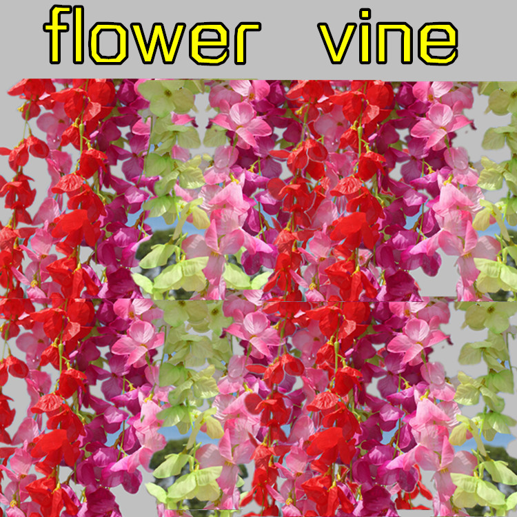Artificial flower Flower string decorative wreath vine 1.8 meters Wisteria Home Garden party Supply decoration - Greenstyles store