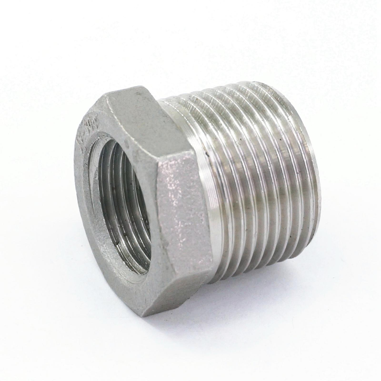 304 Stainless Steel Reducer 3/4 BSP Male Thread to 1/2 BSP Female Thread Reducing Bush adapter Fitting Gas Air Water Fuel