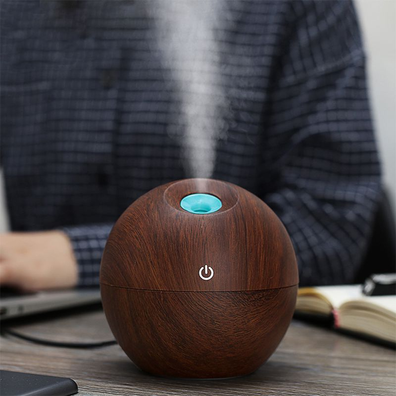 130ml USB Aroma ESSential Oil Diffuser Ultrasonic Mist Humidifier Air Purifier Color Change LED Night light for Office Home