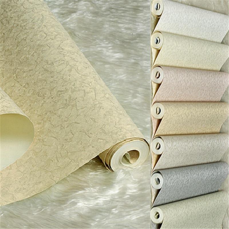 € 29.82 21% de réduction|Beibehang Ultra moderne minimaliste solide couleur  frais vert papier peint salon de coiffure showrooms papier peint dans ...