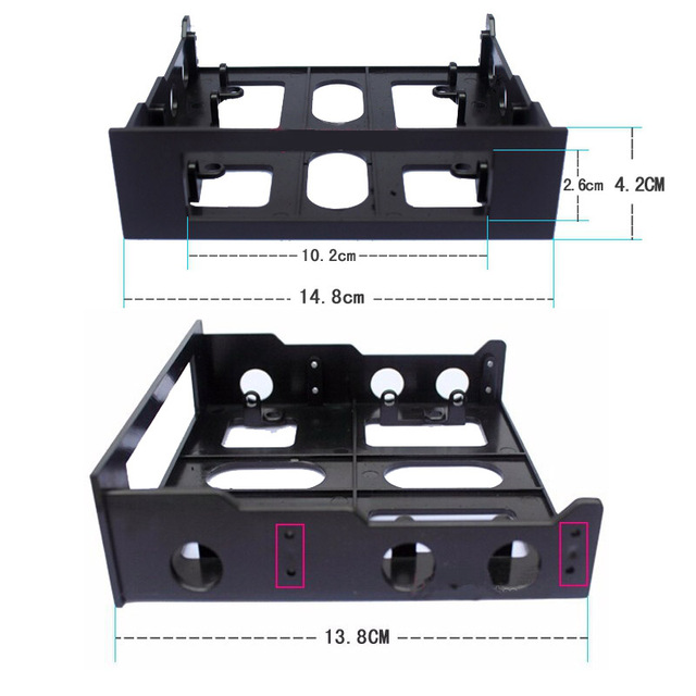 En-Labs 3.5 to 5.25 Floppy to Optical Drive Bay Mounting Bracket Converter for Front Panel,Hub,Card Reader,Fan Speed controller 4