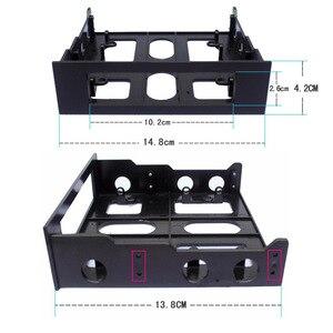 Image 4 - En labs 3.5 ~ 5.25 플로피 광학 드라이브 베이 장착 브래킷 변환기 전면 패널, 허브, 카드 판독기, 팬 속도 컨트롤러 용