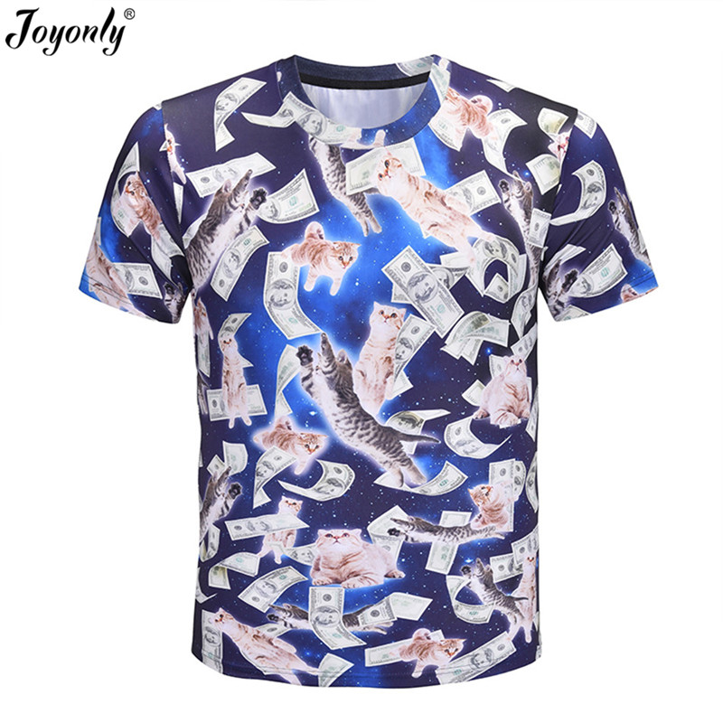Joyonly Tshirt Kids Tops Dollar Animal-Cat Printed Girls Design Boys Lovely Cool US 3d