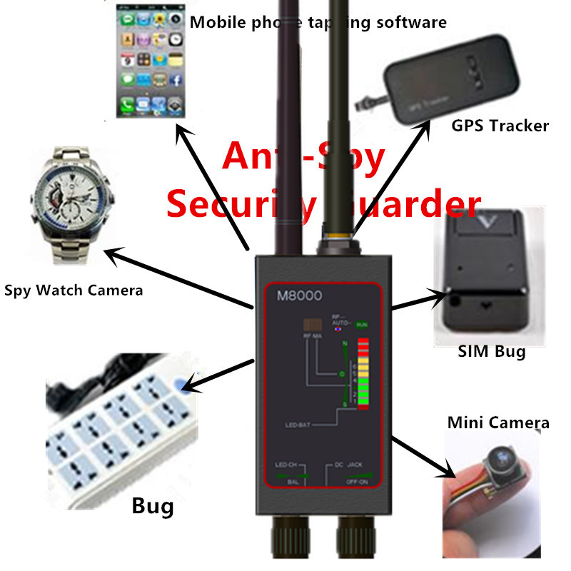 1MHz-12GHz Frequency Automatic Signal Search Detector With Antenna Signals Detectors Car GPS Tracker Finder With Magnetic Light