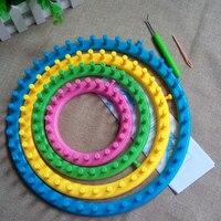 Useful 4 Size DIY Knitting Tool Set Round Knitter Looms Ring Yarn Needle Sock Scarf Hat