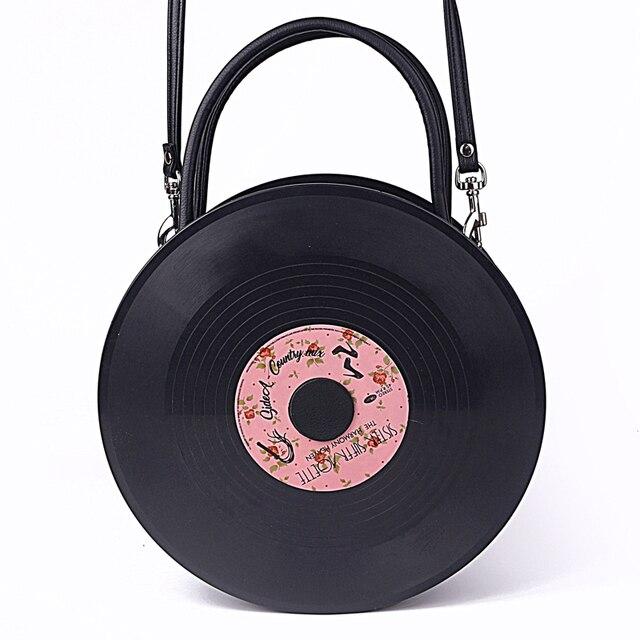 fbfe616161 Sac Harajuku japonais disque rond album lolita sac soeur souple PU sac à  main sac bandoulière. Passer la souris dessus pour zoomer