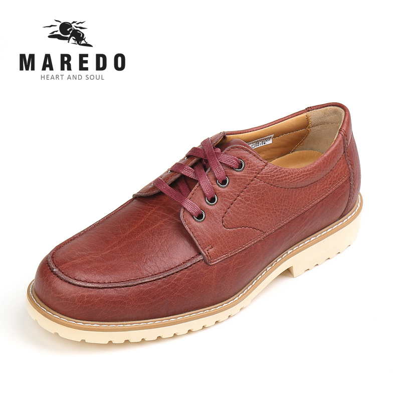 MAREDO leather casual breathable shoes social dress shoes men shoes official shoes 2017 new spring imported leather men s shoes white eather shoes breathable sneaker fashion men casual shoes