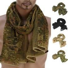 190*90 см Шарф, хлопок, военный камуфляж, тактический сетчатый шарф, снайперский шарф для лица, вуаль для кемпинга, охоты, многоцелевой походный шарф