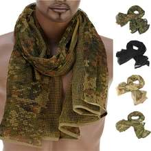 190*90cm Scarf Cotton Military Camouflage Tactical Mesh Scarf Sniper Face Scarf Veil Camping Hunting Multi Purpose Hiking Scarve(China)