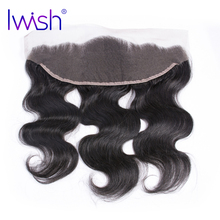 Iwish Brazilian Remy Hair Body Wave Lace Frontal 13×4 inch From Ear to Ear Closure Free Part 100% Human Hair 8-20 inch