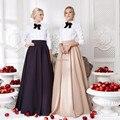 A-line Evening Party Long Skirts 2017 Floor Length Custom Made Elegant Winter Long Warm Skirts For Women